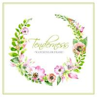 Tender Pastel Floral Wreath