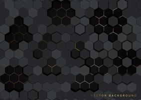 Gray geometric hexagonal pattern  vector