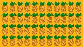 Pineapple summer theme  vector