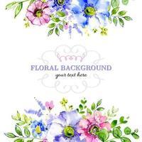 borda de flor desenhada à mão macia