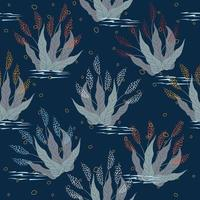 Blue navy floral pattern