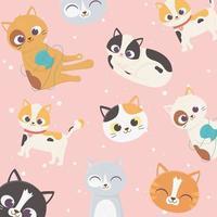 decoración de patrón de gatos lindos