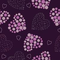Romantic floral heart shape vector