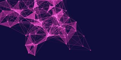 Pink Low poly network