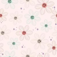 Lovely transparent flower pattern vector
