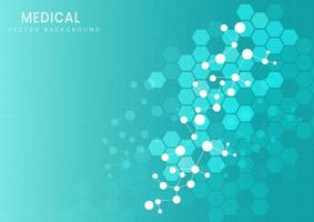 estrutura molecular em fundo azul claro