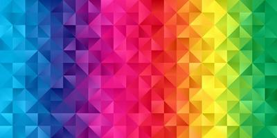 Rainbow coloured low poly banner vector