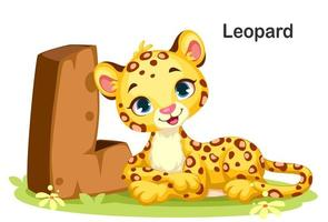L for Leopard vector