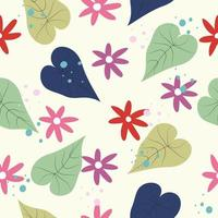 Feminine flowers pattern vector