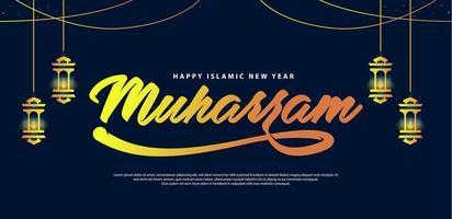 fond de lettrage heureux muharram