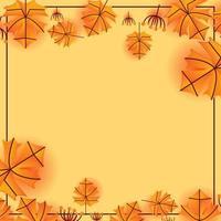 Autumn Leaf Border and Frame Template