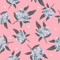 Vintage floral on pink background