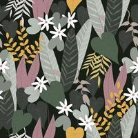 Spring floral in tropical jungle vector