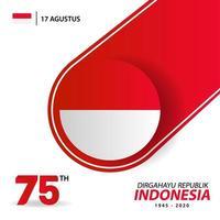 bannière et carte de voeux de la fête de lindépendance indonésie