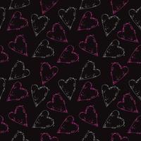 Glittering heart shape pattern vector