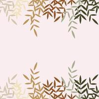 varias hojas de colores en otoño vector