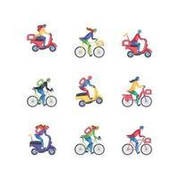 conjunto de iconos de entrega de compras en línea