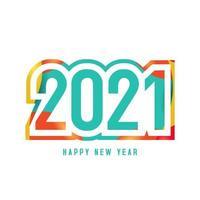 Fondo colorido '' feliz año nuevo '' 2021