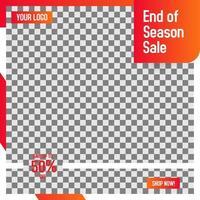 modelo de postagem de mídia social de moldura laranja para venda no varejo