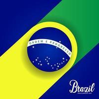 bannière de la fête de l'indépendance du brésil