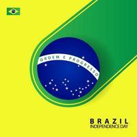 carte de voeux de la fête de l'indépendance du brésil