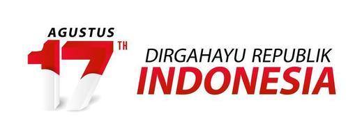 joyeux jour de l'indépendance de l'indonésie bannière et carte de voeux