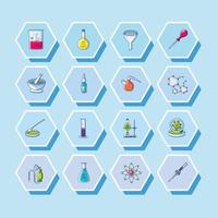 Set of laboratory icons
