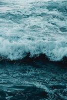 White waves crashing photo