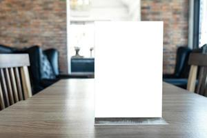 Blank screen mock up menu