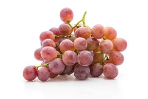 Fresh grapes on white
