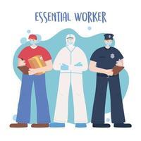 modèle de carte de travailleurs essentiels masculins