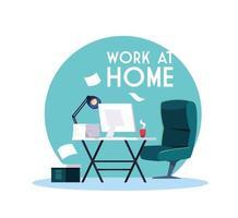 chantier avec lettrage travail à domicile
