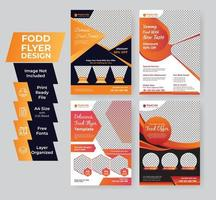 Food flyer template set vector