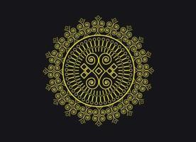 Persian Mandala Floral Doodle Circle Pattern Design vector