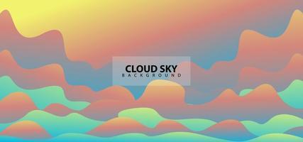 Modern Gradient Clouds Sky Design Background Template