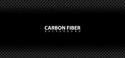 textura de fondo de diseño de fibra de carbono negro vector