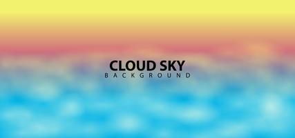 Plantilla de fondo de diseño de cielo de nube borrosa