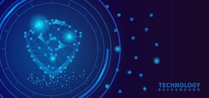 modello di sfondo di progettazione di sicurezza della tecnologia digitale