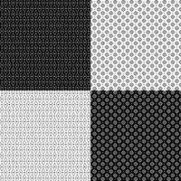 Vintage geometric patterns vector