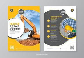 Corporate construction tools flyer design for printing