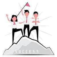 Men and woman achieving success vector