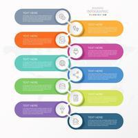 Infographie en 10 étapes avec des formes de capsules