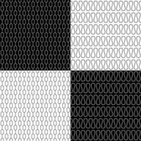 Set of retro seamless patterns