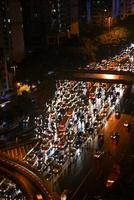 city night traffic jam