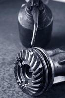 lubricating a gear