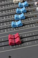 Audio mixer panel close photo