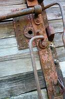 rusty lock on the door