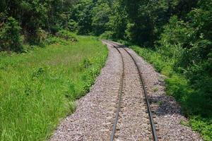 ferrocarril en el país en desarrollo foto