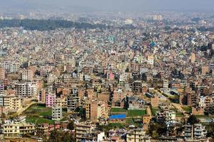 Kathmandu view from Swayambhunath photo