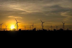 Wind turbine power generator with sunset